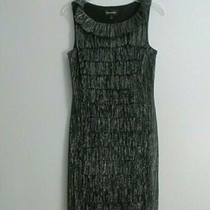 CONNECTED BLACK / SILVER METALLIC PARTY DRESS